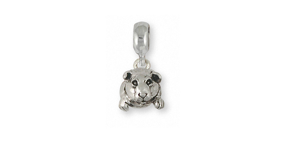Guinea Pig Charms Guinea Pig Charm Slide Sterling Silver Piggie Jewelry Guinea Pig jewelry