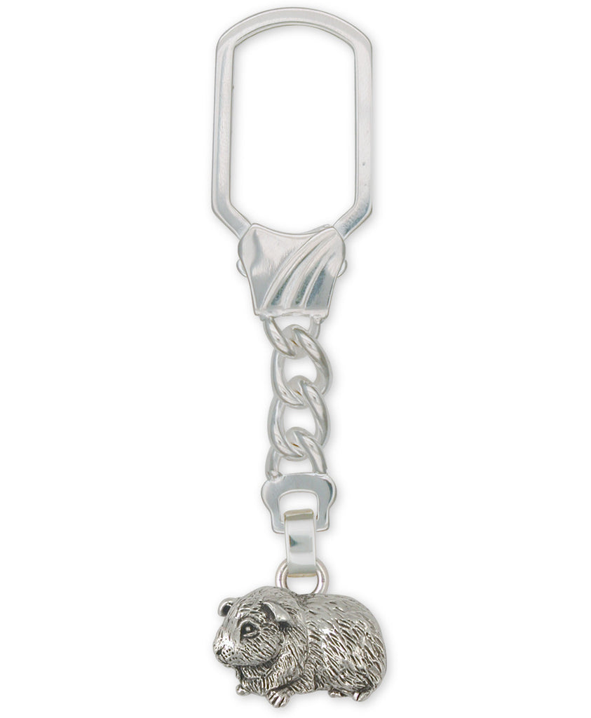 Guinea Pig Charms Guinea Pig Key Ring Sterling Silver Piggie Jewelry Guinea Pig jewelry