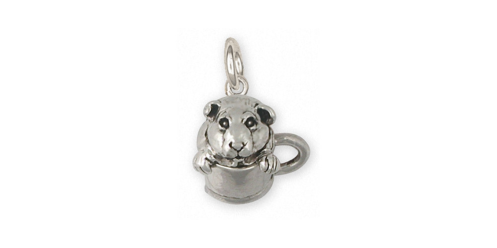 Guinea Pig Charms Guinea Pig Charm Sterling Silver Piggie Jewelry Guinea Pig jewelry