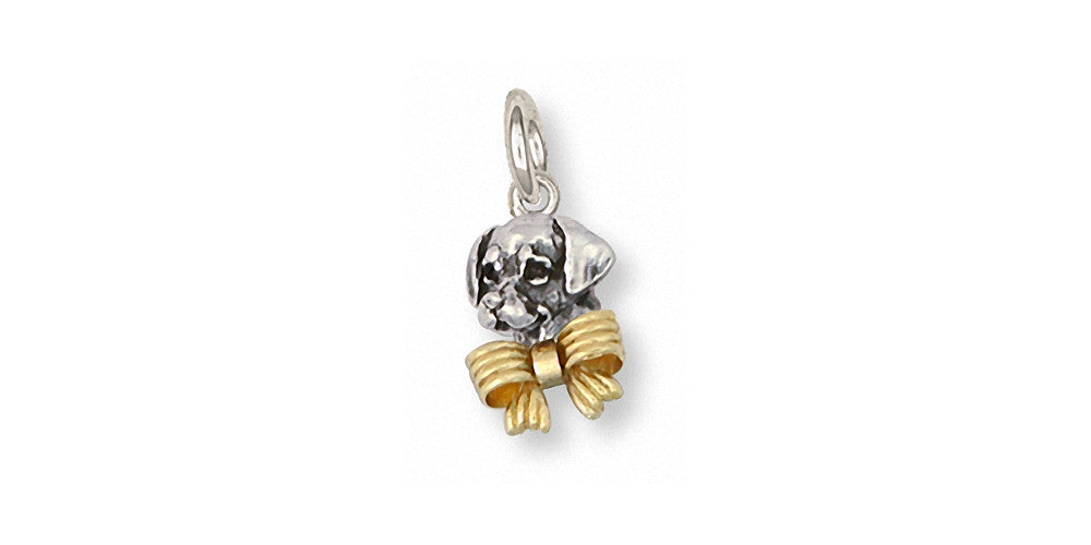 Golden Retriever Charms Golden Retriever Charm Silver And Gold Dog Jewelry Golden Retriever jewelry