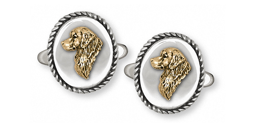 Golden Retriever Charms Golden Retriever Cufflinks Silver And Gold Dog Jewelry Golden Retriever jewelry