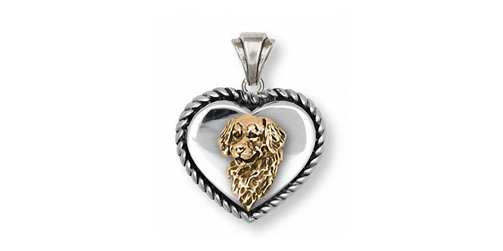 Golden Retriever Charms Golden Retriever Pendant Silver And Gold Dog Jewelry Golden Retriever jewelry