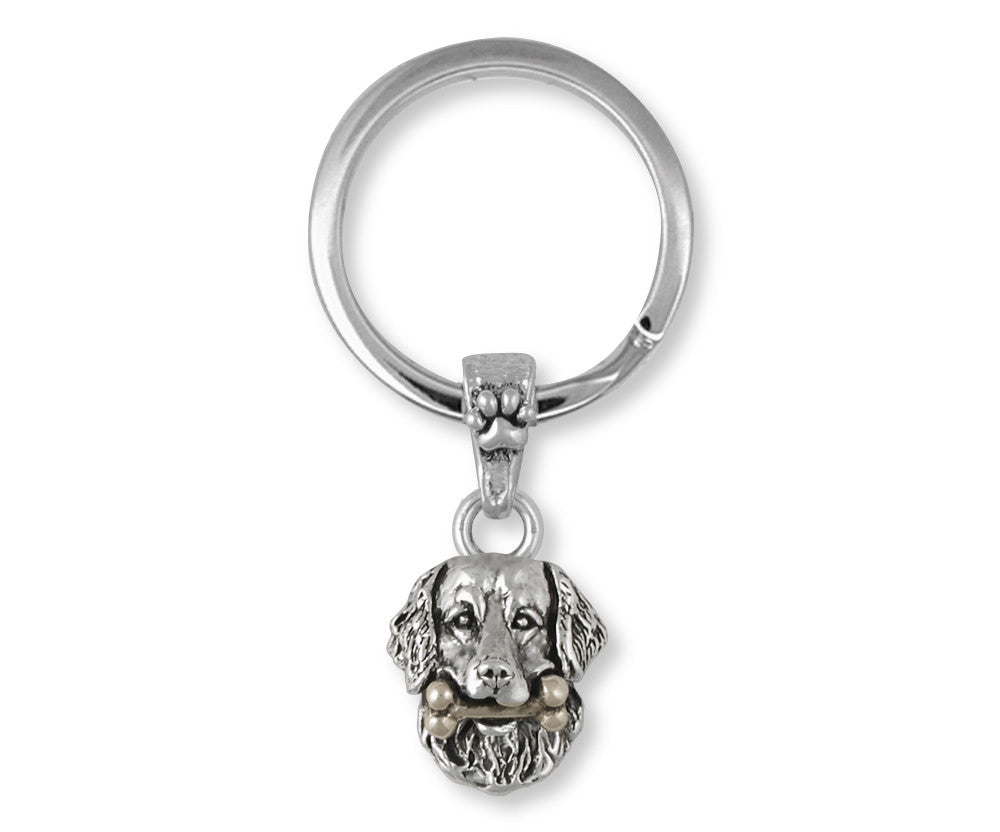 Golden Retriever Charms Golden Retriever Key Ring Sterling Silver Dog Jewelry Golden Retriever jewelry