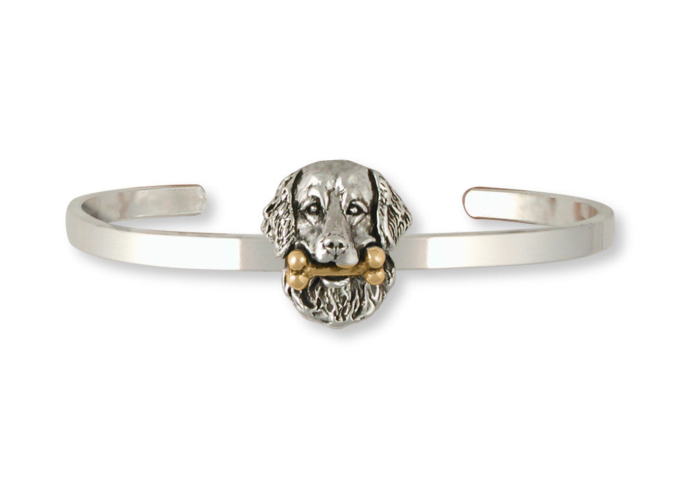 Golden Retriever Charms Golden Retriever Bracelet Silver And Gold Dog Jewelry Golden Retriever jewelry