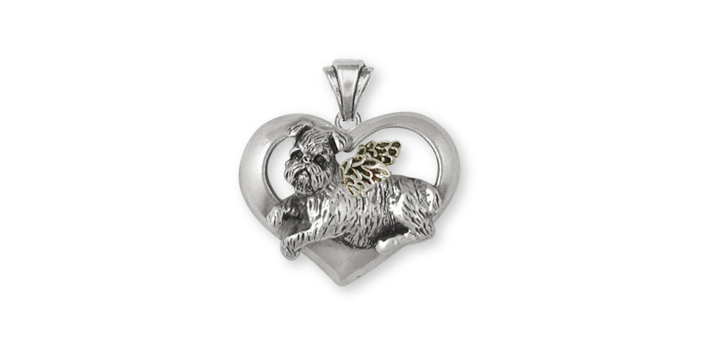 Brussels Griffon Charms Brussels Griffon Pendant Sterling Silver Dog Jewelry Brussels Griffon jewelry