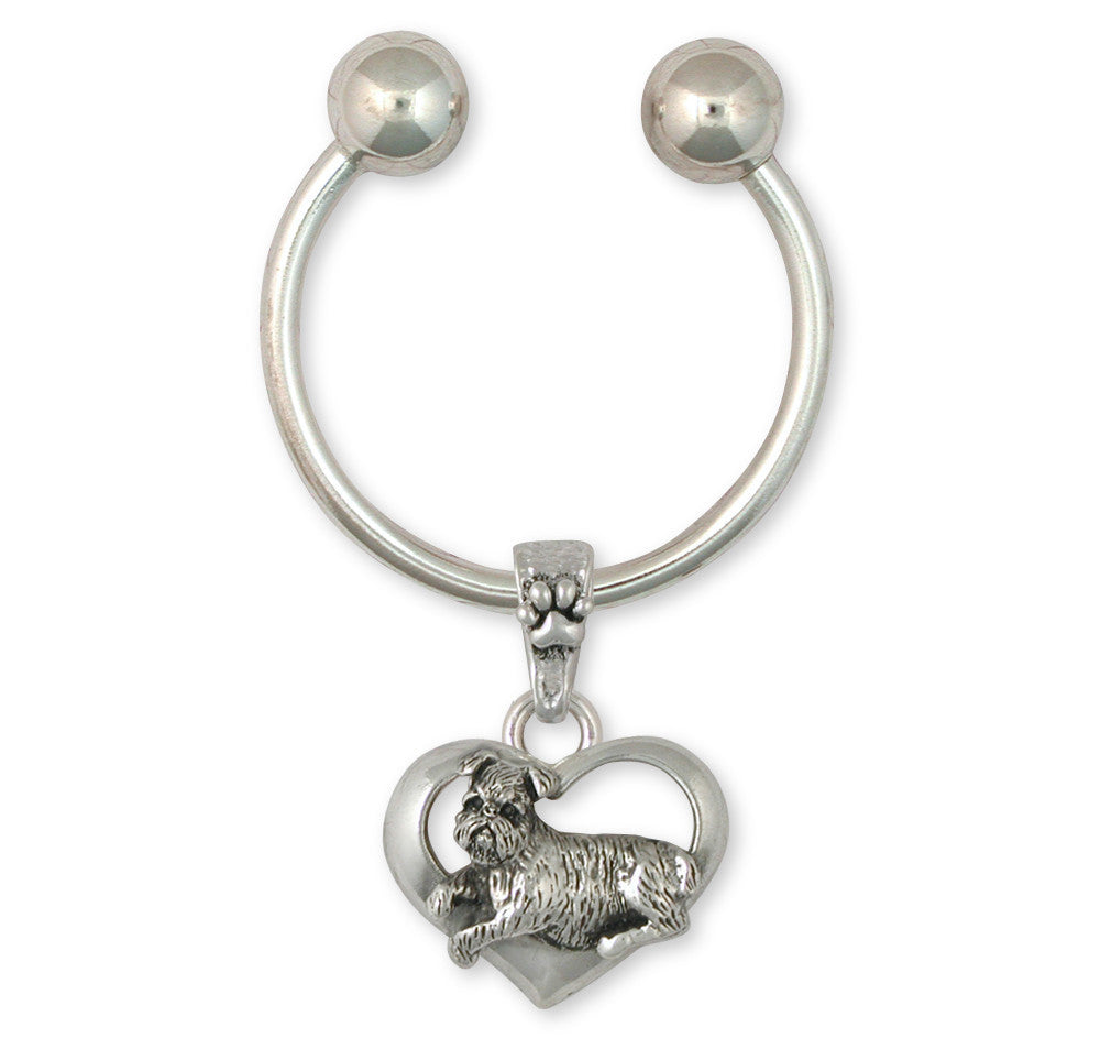Brussels Griffon Charms Brussels Griffon Key Ring Sterling Silver Dog Jewelry Brussels Griffon jewelry