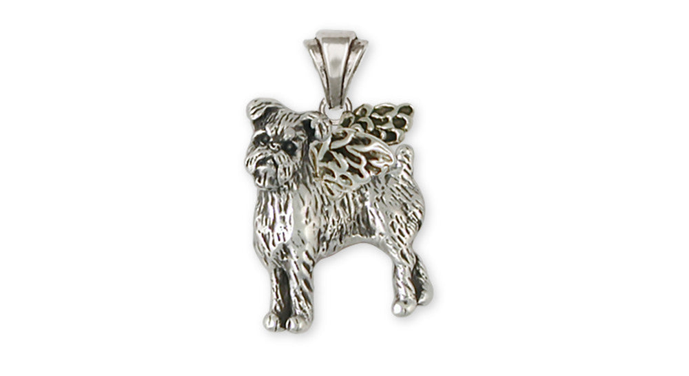 Brussels Griffon Angel Charms Brussels Griffon Angel Pendant Handmade Sterling Silver Dog Jewelry Brussels Griffon Angel jewelry