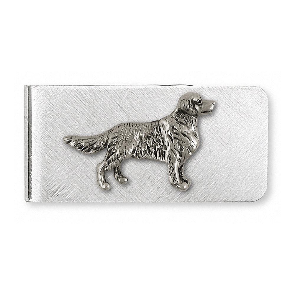Golden Retriever Charms Golden Retriever Money Clip Sterling Silver Dog Jewelry Golden Retriever jewelry
