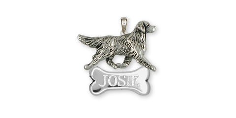 Golden Retriever Dog Charm And Jewelry Designs In Silver And Gold By