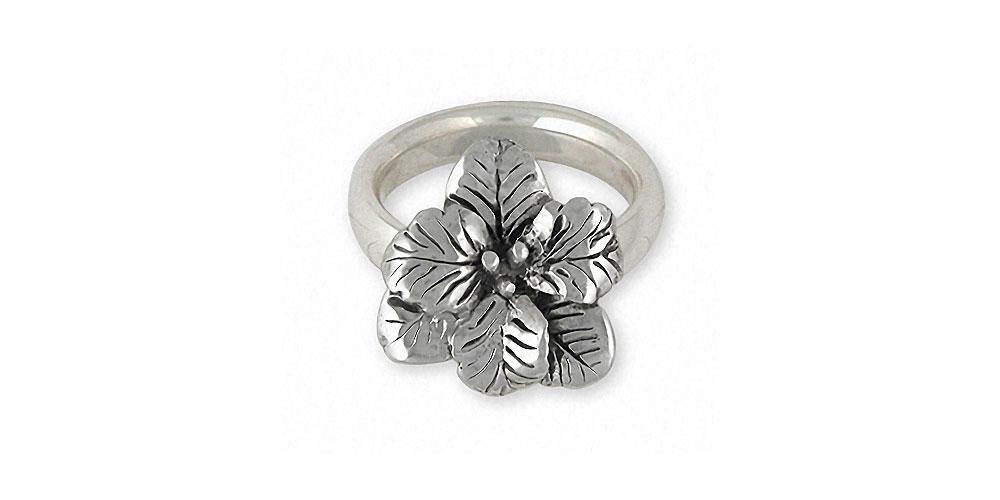 Gladiolus Charms Gladiolus Ring Sterling Silver Flower Jewelry Gladiolus jewelry