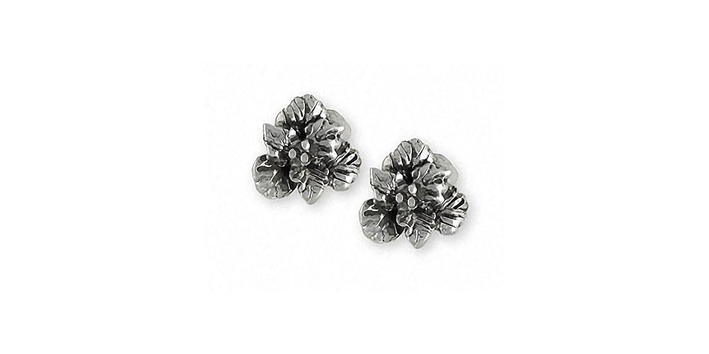 Gladiolus Charms Gladiolus Earrings Sterling Silver Flower Jewelry Gladiolus jewelry