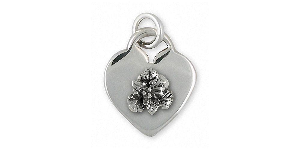 Gladiolus Charms Gladiolus Pendant Sterling Silver Flower Jewelry Gladiolus jewelry