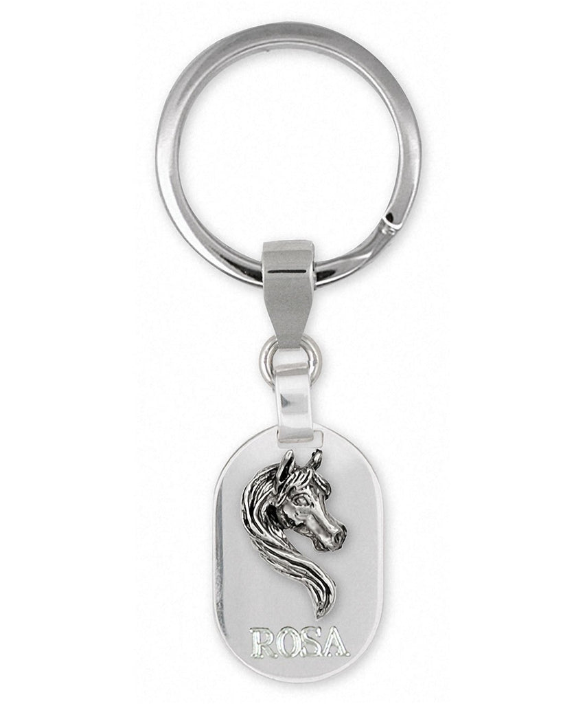 Horse Charms Horse Key Ring Sterling Silver Horse Jewelry Horse jewelry
