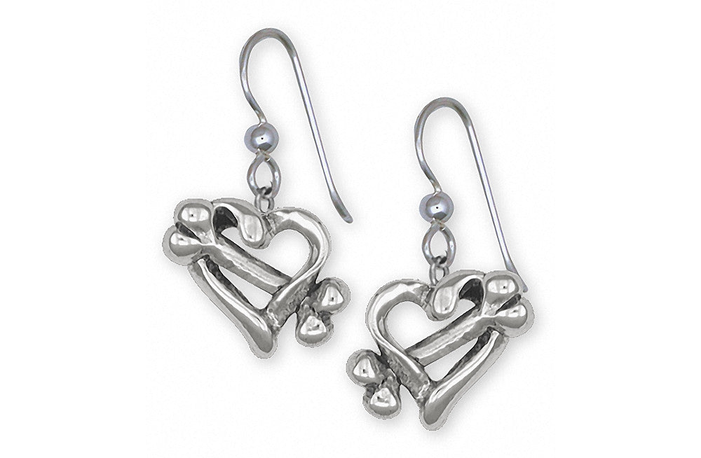 Dog Bone Charms Dog Bone Earrings Sterling Silver Dog Jewelry Dog Bone jewelry