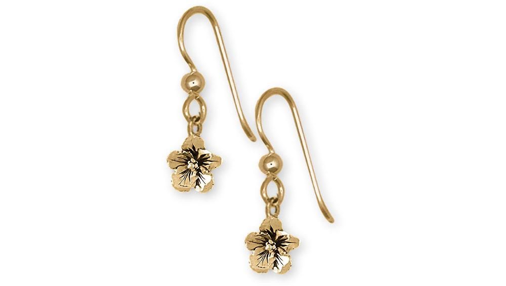 Hibiscus Charms Hibiscus Earrings 14k Gold Hibiscus Flower Jewelry Hibiscus jewelry