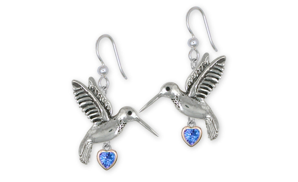 Hummingbird Charms Hummingbird Earrings Sterling Silver Bird Jewelry Hummingbird jewelry