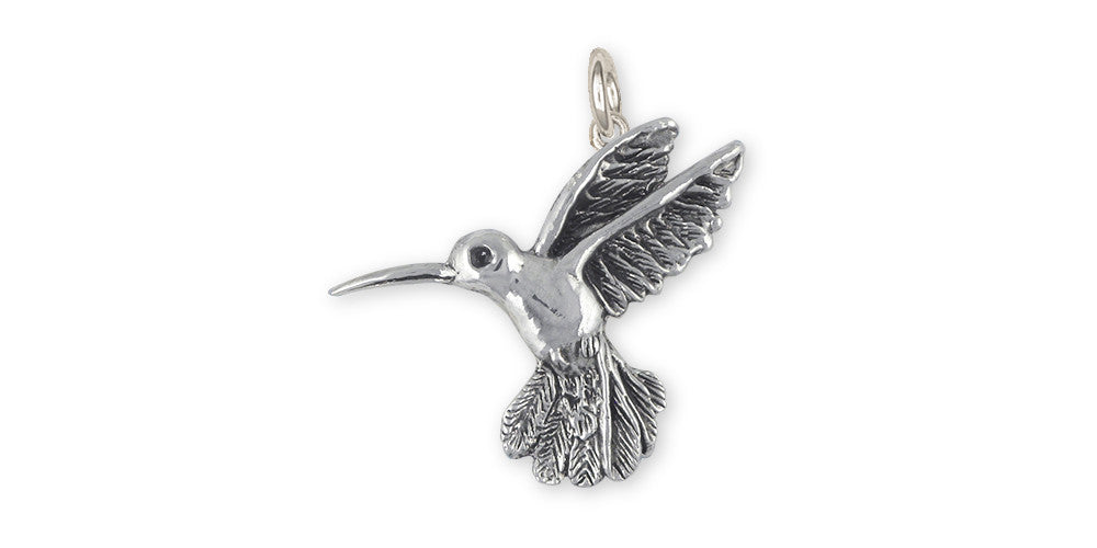 Hummingbird Charms Hummingbird Charm Sterling Silver Bird Jewelry Hummingbird jewelry