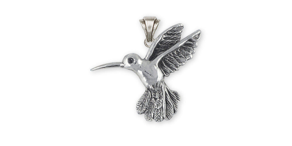 Hummingbird Charms Hummingbird Pendant Sterling Silver Bird Jewelry Hummingbird jewelry