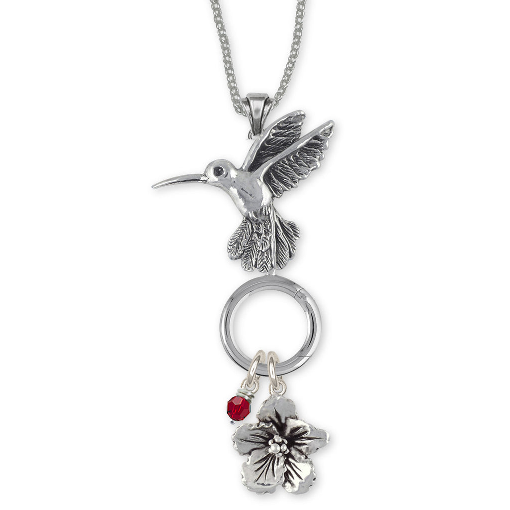 Hummingbird Charms Hummingbird Charm Holder Sterling Silver Bird Jewelry Hummingbird jewelry