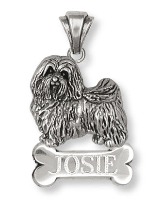 Havanese Personalized Pendant Handmade Sterling Silver Dog Jewelry HV1-BNP