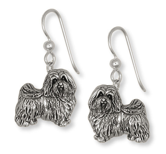 Havanese Earrings Handmade Sterling Silver Dog Jewelry HV1-E