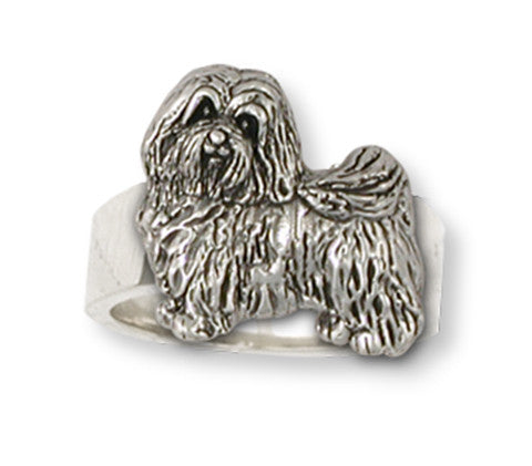 Havanese Ring Handmade Sterling Silver Dog Jewelry HV1-R