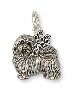 Havanese Angel Charm Handmade Sterling Silver Dog Jewelry HV1A-C