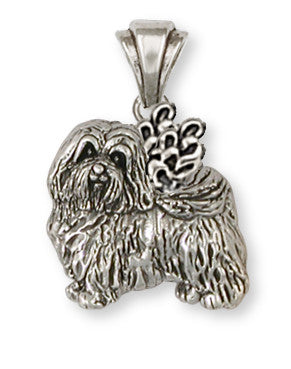 Havanese Angel Pendant Handmade Sterling Silver Dog Jewelry HV1A-P