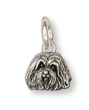 Havanese Charm Handmade Sterling Silver Dog Jewelry HV2-C