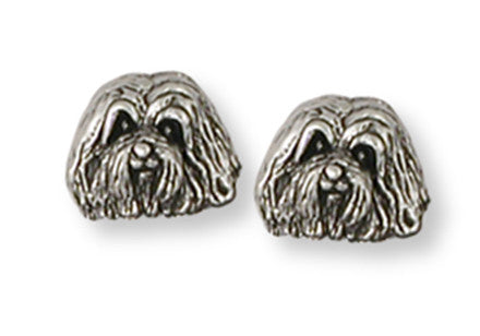 Havanese Earrings Handmade Sterling Silver Dog Jewelry HV2-E
