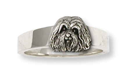 Havanese Ring Handmade Sterling Silver Dog Jewelry HV2-R