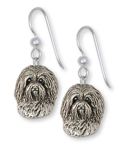 Havanese Earrings Handmade Sterling Silver Dog Jewelry HV3-E