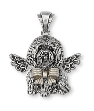 Havanese Angel Pendant Handmade Sterling Silver Dog Jewelry HV4A-P1