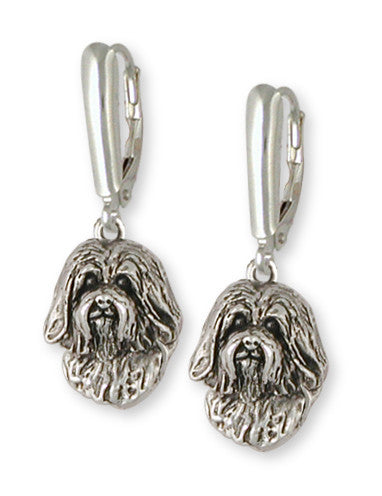 Havanese Earrings Handmade Sterling Silver Dog Jewelry HV5-E