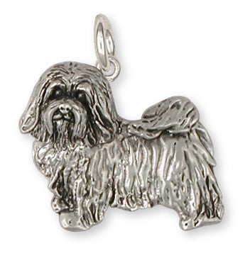 Havanese Charm Handmade Sterling Silver Dog Jewelry HV6-C