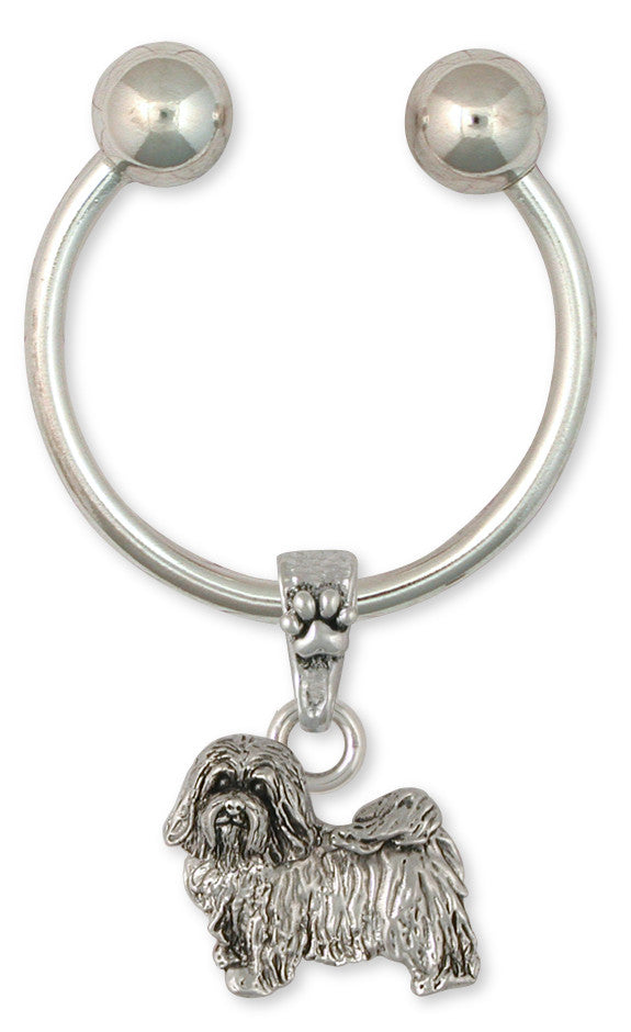 Havanese Key Ring Handmade Sterling Silver Dog Jewelry HV6-KR