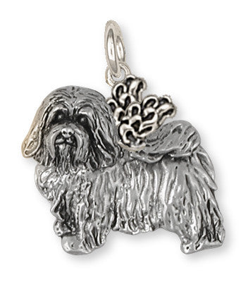 Havanese Angel Charm Handmade Sterling Silver Dog Jewelry HV6A-C