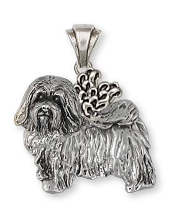 Havanese Angel Pendant Handmade Sterling Silver Dog Jewelry HV6A-P