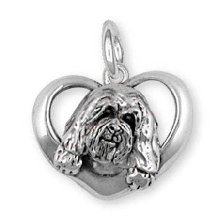 Havanese Charm Handmade Sterling Silver Dog Jewelry HV7-C