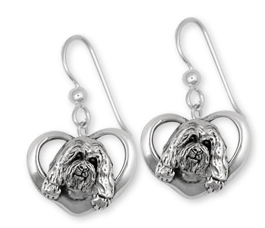 Havanese Earrings Handmade Sterling Silver Dog Jewelry HV7-E