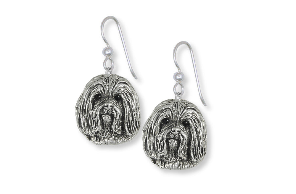 Havanese Charms Havanese Earrings Sterling Silver Dog Jewelry Havanese jewelry