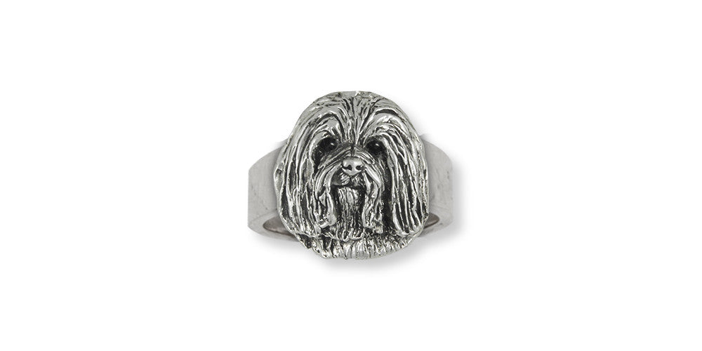 Havanese Charms Havanese Ring Sterling Silver Dog Jewelry Havanese jewelry