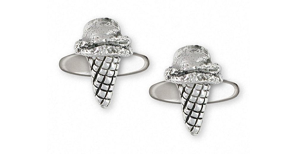 Ice Cream Cone Charms Ice Cream Cone Cufflinks Sterling Silver Ice Cream Cone Jewelry Ice Cream Cone jewelry