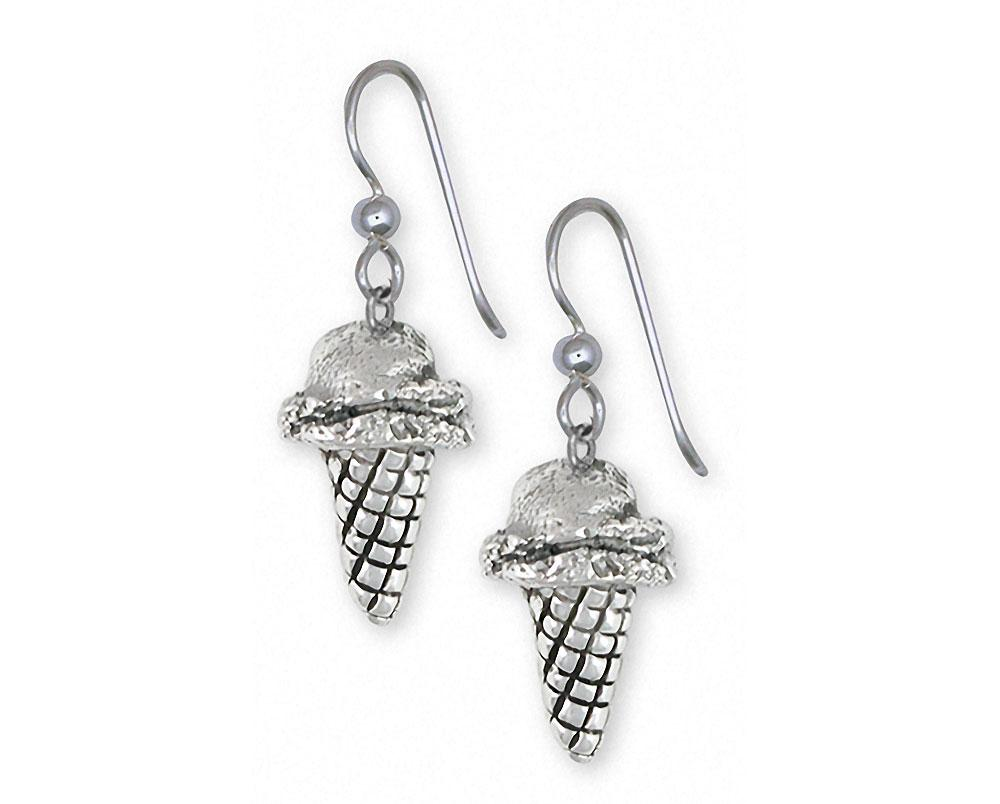 Ice Cream Cone Charms Ice Cream Cone Earrings Sterling Silver Ice Cream Cone Jewelry Ice Cream Cone jewelry