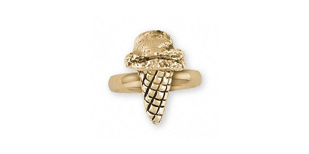Ice Cream Cone Charms Ice Cream Cone Ring 14k Gold Ice Cream Cone Jewelry Ice Cream Cone jewelry