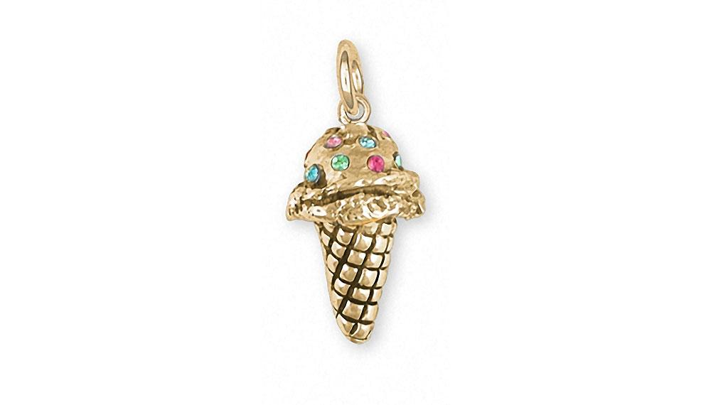 Ice Cream Cone Charms Ice Cream Cone Charm 14k Gold Ice Cream Cone Jewelry Ice Cream Cone jewelry