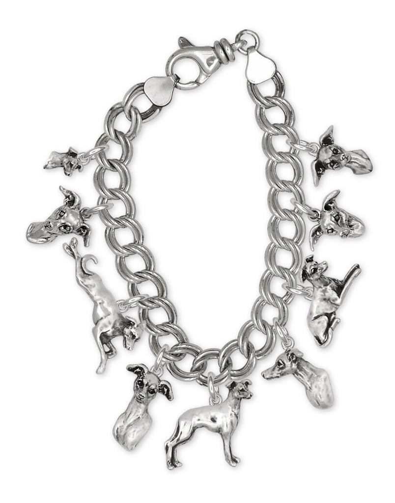 Italian Greyhound Charms Italian Greyhound Bracelet Sterling Silver Ig Jewelry Italian Greyhound jewelry