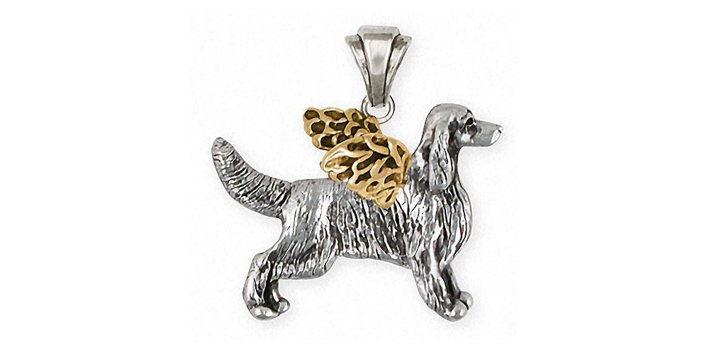 Irish Setter Charms Irish Setter Pendant Silver And 14k Gold Dog Jewelry Irish Setter jewelry