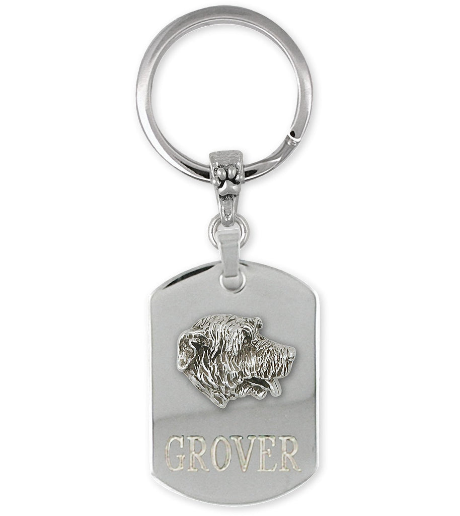 Irish Wolfhound Charms Irish Wolfhound Key Ring Sterling Silver Dog Jewelry Irish Wolfhound jewelry