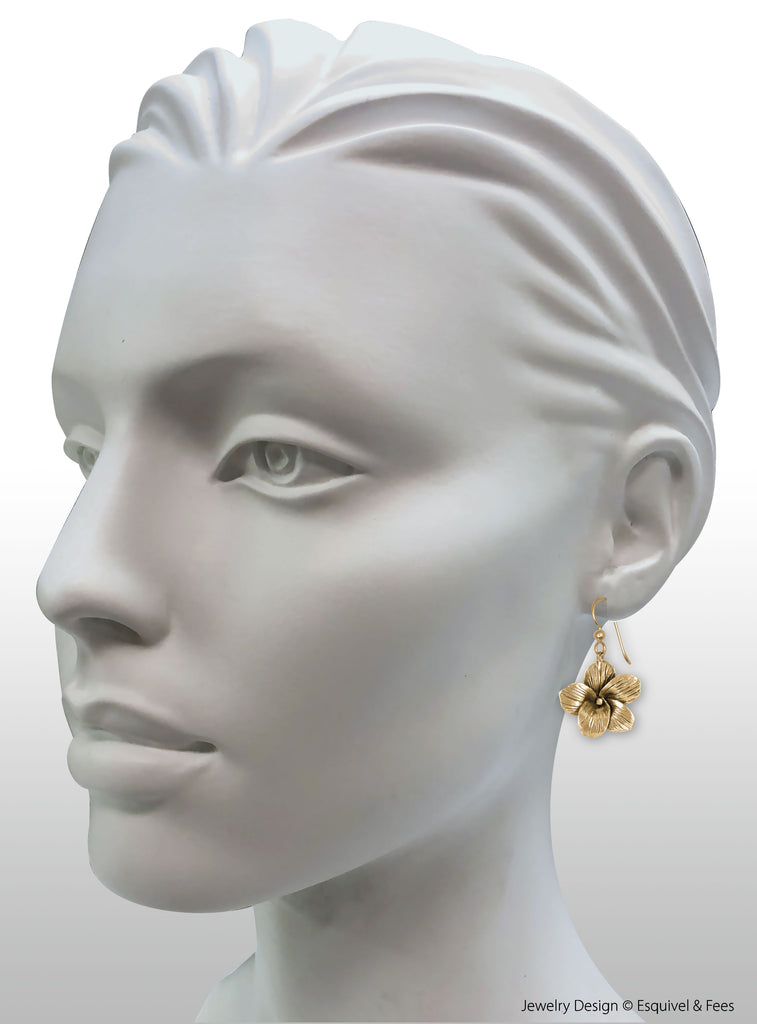 Jasmine Jewelry 14k Gold Handmade Jasmine Flower Earrings  JAS1-EG
